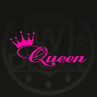 Queen Crown Window Vinyl Decal Sticker Car Truck Girly Love Any Color U Like