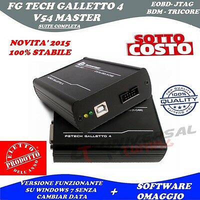 Fg Tech Master Galletto 4 V54 New Versione 2015 Jtag - Bdm - Tricore Dpf Egr