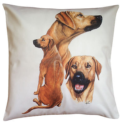 Rhodesian Ridgeback Group Breed of Dog Cotton Cushion Cover - Perfect Gift