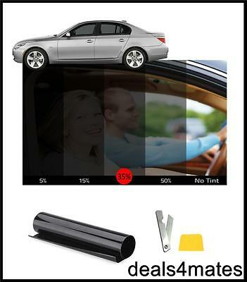 CAR VAN CAMPER WINDOW TINT FILM TINTING KIT SMOKE BLACK 35% 76cm x 3M DIY KIT