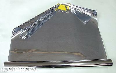 WINDOW TINT FILM TINTING SILVER CHROME REFLECTIVE ONE WAY 76cm x 3M