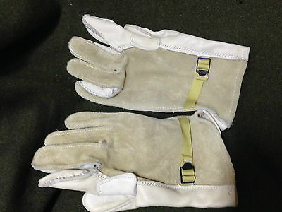 RARE! 1996 Vintage US ARMY GLOVES HEAVY DUTY CATTLEHIDE SIZE 4 Military