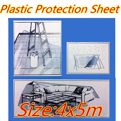 Clear Plastic Disposable Drop Painting Paint Dust Covers Protection Sheet Film