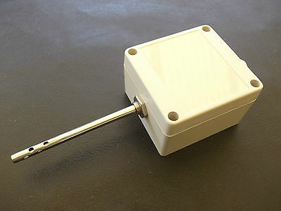 RTD PT100 3 WIRE AIR SENSOR PROBE WITH 4-20mA TRANSMITTER IP65 ENCLOSER