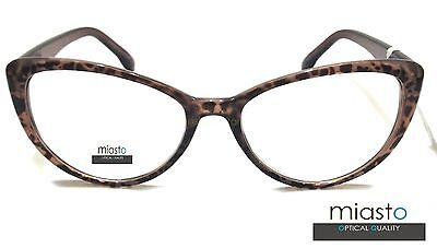 "Nwt$39.99 Miasto Womens Large Big ""cat Eye"" Sexy Reader Reading Glasses Specs"