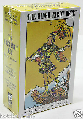 POCKET EDITION FAMOUS RIDER WAITE TAROT CARDS DECK PAMELA COLMAN SMITH NIP