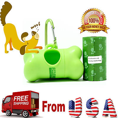 EcoJeannie Biodegradable Dog Poopbags 20 Bags(20X1 Roll) +1 Dispenser, Free Ship