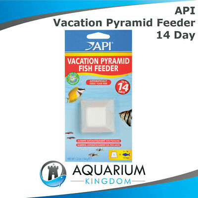 API 14 Day Vacation Pyramid Fish Feeder - Automatic Holiday Aquarium Block Food