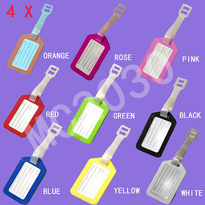 OZ STOCK 4 x Travelling Luggage Name Tag School Bag ID Label FREE SHIPPING
