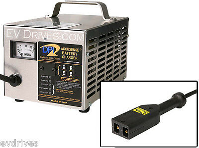 DPI Golf Cart Charger 42V EZ-Go TXT (PowerWise D-Style) Connector - Accusense