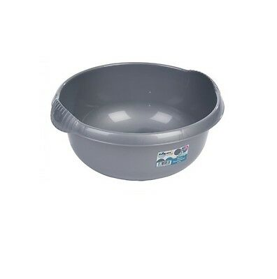 Wham - 28cm Round Plastic Washing Up Sink Bowl - Silver