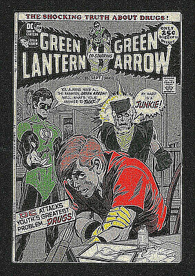 GREEN LANTERN & GREEN ARROW 85 SIGNÉ/SIGNED Neal Adams ANTI-DRUG ISSUE 1971 VF+