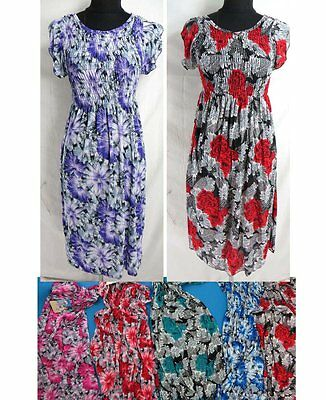 US SELLER-lot of 4 bohemian short dress Wholesale Casual Clothing for Women