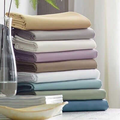500TC Bamboo Cotton Collection Sheet Set Fitted Flat Sheet Pillowcases All Sizes