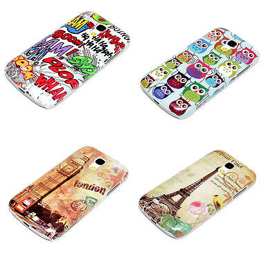 Accessories For Samsung Galaxy S4 Mini Stylish Pattern Hard Case Cover + Film