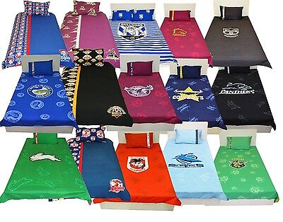 NRL Quilt / Doona / Duvet Cover Pillow Set Select Your Team Single Double Queen