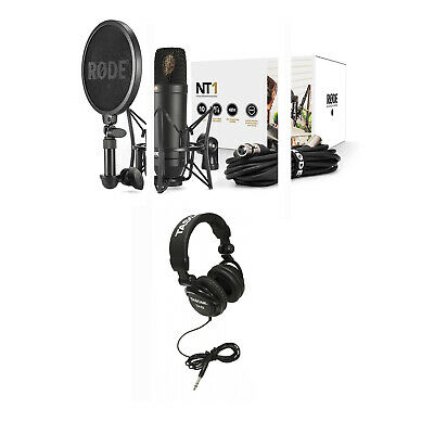 Rode NT1 Complete Recording Kit Cardioid Condenser Microphone w/ FREE Headphones