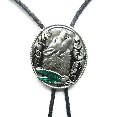 Howling Wolf Western Cowboy Rodeo Bolo Tie
