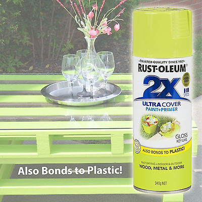 Rustoleum/Rust-Oleum 2X Ultra Cover Gloss Key Lime Spray Paint+Primer Aerosol
