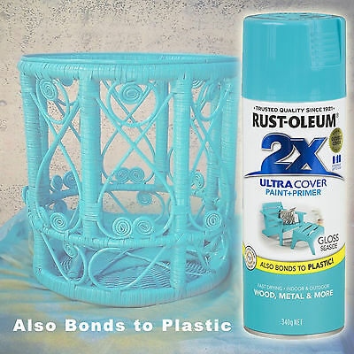 Rustoleum/Rust-Oleum 2X Ultra Cover Gloss Seaside Spray Paint+Primer Aerosol Can
