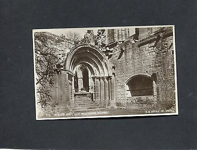 Postcard - C. 1950's View of the East Processional Doorway, Dryburgh Abbey