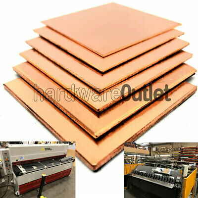 Copper Sheet  0.7 0.9 1.2 1.5 2.0 2.5 3.0 mm 22 sizes available Free p&p