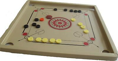 TRAVEL INDIAN CARROM BOARD w/ PIECES & INSTRUCTIONS carom traditional game r1000