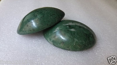 SHENGONG Natural Jade Convex Oval Shape Hot & Cool stone Massage therapy JS-42