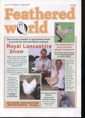 FEATHERED WORLD MAGAZINE - August 2001 Poultry Pigeons