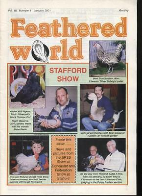 FEATHERED WORLD MAGAZINE - January 2001  Poultry Pigeons