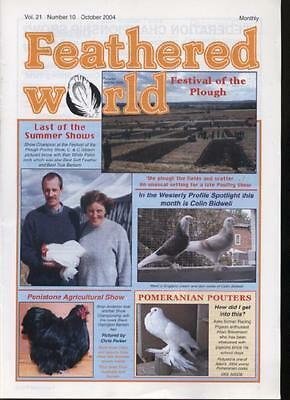 FEATHERED WORLD MAGAZINE - October 2004  Poultry Pigeons