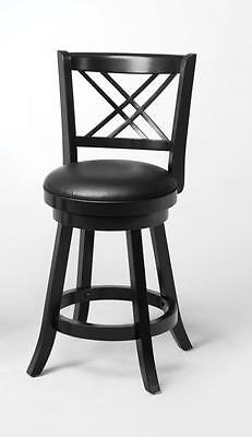 Black Swivel Counter Height Stool Chair by Coaster 101959 - Set of 2