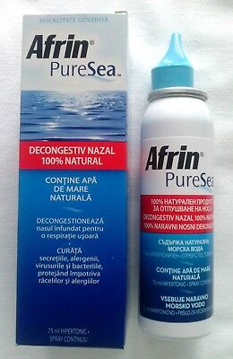 AFRIN / PURE SEA hypertonic Spray- 75 ml.Removes nasal congestion for easy breat