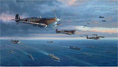 """To Malta For Freedom"" Jim Laurier S/N Canvas Giclee - WW II Spitfires"