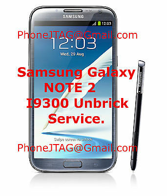SAMSUNG GALAXY HARD bricked S3 Note 2 II Riff box Jtag repair GT-I9300  GT-N7100