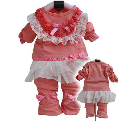Toddler Girls 2 PC Floral Set Size 1-2 years old Jumper outfit.