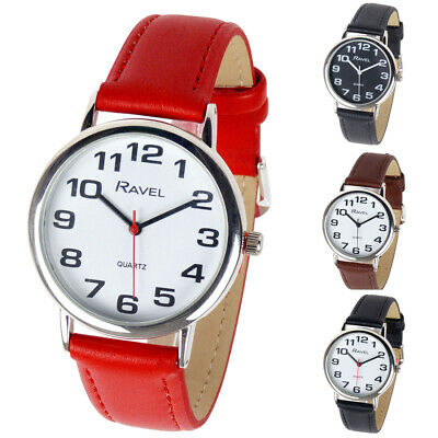 NEW Unisex Fashion Watch RAVEL CLASSIC BOLD Numbers EASY READ Everyday Value