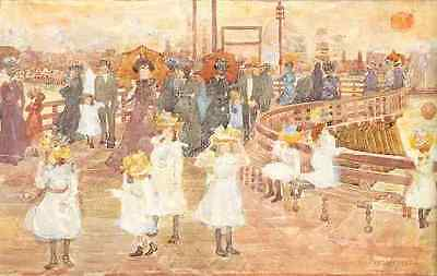 People Houses Water 8x10 Print 1469 New England Harbor by Maurice Prendergast
