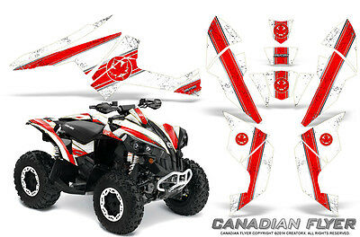 Can-Am Renegade Graphics Kit by CreatorX Decals Stickers CFLYER RED WHITE