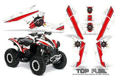 Can-Am Renegade Graphics Kit by CreatorX Decals Stickers TOP FUEL RW