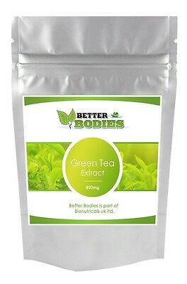 60 Green Tea Capsules Extract 850mg Weight Loss Diet Slimming Pills Fat Burner