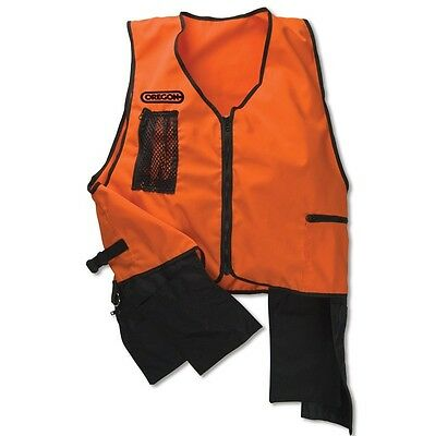 New Oregon FORESTRY TOOL VEST - High Visibility Orange Safety Tool Work Chainsaw