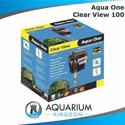Aqua One ClearView 100 Hang On Filter - Aquarium Fish Tank 180L/H Clear View