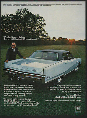 1968 BUICK ELECTRA 225 Car - Real Estate Broker Raymond Polley - VINTAGE AD