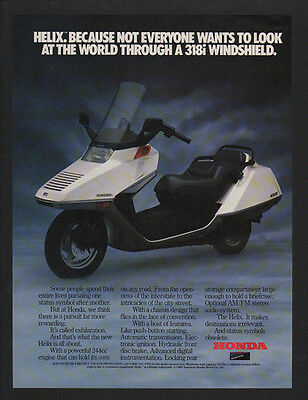 1986 HONDA HELIX Scooter - Motorcycle - VINTAGE AD