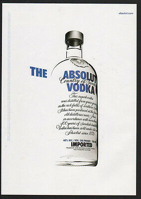 2006 ABSOLUT Vodka - The Absolut Vodka -  VINTAGE AD