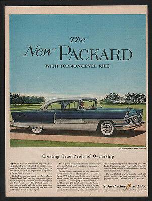 1955 Blue & White PACKARD PATRICIAN Car VINTAGE AD