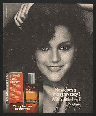 1986 JOVAN Musk For Men - Actress JAYNE KENNEDY - VINTAGE ADVERTISEMENT