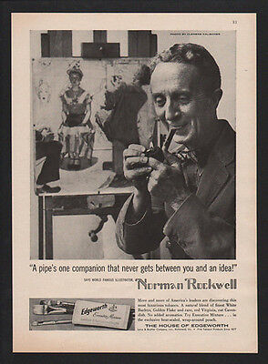 1959 EDGEWORTH Executive Mixture Tobacco - Photo of NORMAN ROCKWELL VINTAGE AD