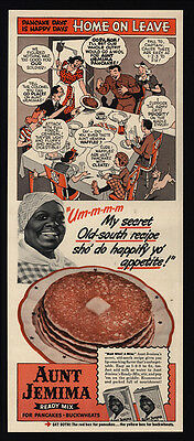 1941 AUNT JEMIMA Pancake Mix - Black Americana - Racist Dialect - VINTAGE AD